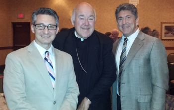 Me with Marcellino D'Ambrosio and Bishop Choby. I'm sporting my new glasses!